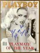 Anna Nicole Smith Died 2007 Signed Playboy 6/93 Playmate Of The Year Cover Bas