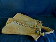 Vintage Wwii Us Army Canvas Military Gaiters Spats Boot Covers Leggings
