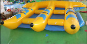 Inflatable Fly Fish Boat For 6 Persons Slide Sled Banana Boat Water Game Y
