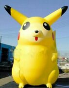 Customize Giant Catoon Characters Inflatable Pikachu With Blower 5m High Y