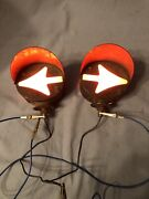 Vintage Arrow 2 Sided Hooded Turn Signal Lights Hot Rat Rod Truck Model A T Ford