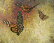 Monarch Study By R.k. Jolley, Impressionist, Original Oil Painting