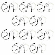 10 Pack Reinforced Single Wire Radio Clear Coil For Motorola Xtn445 Cp88 Cp150