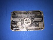A Rare Find Continental C75-12 Data Plate Look