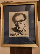 Woody Allen Signed Vintage Photo 1970s Framed Autographed Annie Hall Hollywood