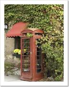 Old Phone Booth Art Print / Canvas Print. Poster, Wall Art, Home Decor - C