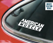 American Muscle Cars Window Sticker Decals Graphic