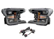 Gxp Black Led Plug And Play Headlight Assemblies For 2018-2020 Ford F-150