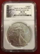 2013 W Silver Eagle Ms70 Ngc West Point Label Top Pop None Graded Higher Rare