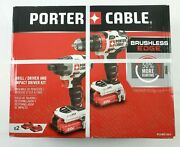 Porter Cable 20v Drill/driver And Impact Driver Kit W/ 2 Batteries - Pcck619l2
