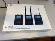 Voking Wm220 Uhf 100 Selectable Channels Wireless Dual Lavalier Microphone Sy...