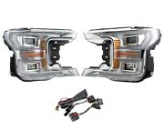Gxp Chrome Led Plug And Play Headlight Assemblies For 2018-2020 Ford F-150