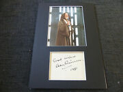 Alec Guinness Signed 8x12 Inch Star Wars Autograph Matted Look