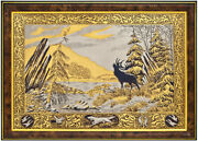 Wall Engraving Brass Metal Nickel Gold Spring Landscape From Russian Masters