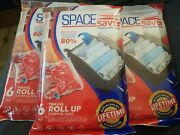 18 Pack Space Saver Storage Travel Roll Up Thick Compress Bags No Vacuum Needed