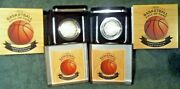 2020 P Basketball Hall Of Fame Proof + Uncirculated Silver Dollar 2 Curved Coins