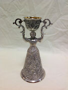 Vintage Silver Plated Double Cup Wedding Goblet
