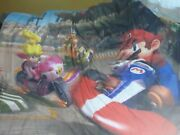 Mario Brothers Kart Wii Full Size Reversible Comforter 5 Pc. Complete Euc