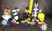 Extremely Rare Several Looney Tunes Six Flags Figurine Lot Taz Bugs Tweety Daffy