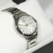 Citizen Womenand039s Eco Drive Silver Dial Elegant Watch Fe6124-85a