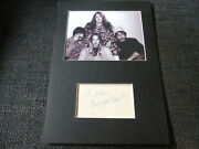The Mamas And The Papas - Mama Cass Elliot Signed 8x12 Autograph Matted Scarce
