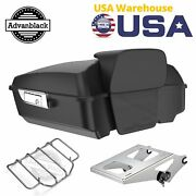 Advanblack Unpainted Chopped Tour Pack Trunk Luggage Fits 97-20 Harley Touring