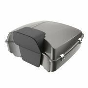 Advanblack Billet Silver Chopped Tour Pack Luggage For Harley Touring 1997-2020