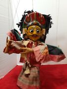 Vintage Double Image String Puppet Hand Carved And Painted Very Rare Need Adjust