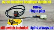 Yamaha Banshee Light Switch Delete With Kill Switch-lights Always On Fits 02 On