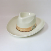 1993 Handhd Cowboy Hat Chip And Dip Bowl Tray H And Hd Made In Mexico