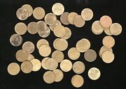 1960's France 10 Franc Coin Collection 50 Coins In A Money Bag.