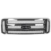 Chrome Grille Grill For Ford 1999-2004 Super Duty F250 F350 F450 F550 Excursion