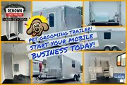 🐶 🐱 New 7x14 Enclosed Dog Grooming Trailer - Mobile Business