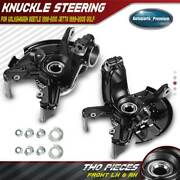 2x Wheel Bearing Hub Knuckle Assembly For Vw Beetle Golf Jetta Front Left Andright
