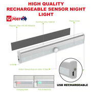 Rechargeable Usb Magnetic Infrared Motion Sensor Wall Night Led Light Lamp Torch