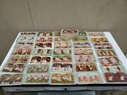 80 Colorized Stereograph Cards Of Various Scenes With Children