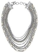 David Yurman 18k Yellow Gold And Sterling Silver Multi-row Chain Necklace