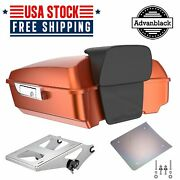 Scorched Orange Chopped Tour Pack Trunk Luggage For Harley Davidson 1997-2020