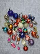 Special Lot Ussr 40 Pieces Vintage Soviet Russian Glass Christmas Decorations