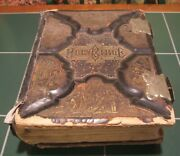 Large Old 1800's Illustrated Bible/dictionary Old And New Testament By American...