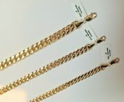 14k Miami Cuban Menandrsquos Womenandrsquos Bracelets 7mm 8mm And 9.5mm Size 7.5 8 And 8.5andrdquo