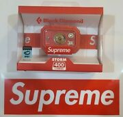 Supreme Black Diamond Headlamp Storm 400 Red Fw20 Sold Out In Hand New Nib