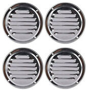 4x 4 Round Louvre Air Vent Stainles Steel Marine Boat Ventilation Hardware