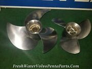Volvo Penta F2 Stainless Propellers Props Set F2 3867558 R F2 3867557 L