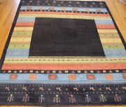 6and0399 X 9and0396 Tribal Gabbehh Hand-knotted Wool Animals Oriental Rug Excellent