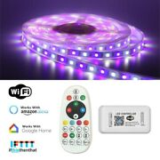 Wifi Alexa Echo 6m60m Rgbw 5050 Led Strip Light Flexible Waterproof W/ 12v Psu
