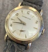 And Co Solid 14k Yellow Gold Commemorative Elgin Cal.713 32mm Wrist Watch