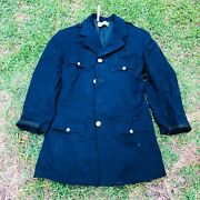 Vintage Wool Made In Usa Stagecraft Studios Military Blue Jacket