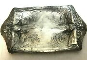 James W. Tufts Boston 1890 Art Nouveau Plated Woman Figural Calling Card Tray