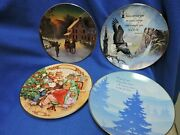 Christmas Collector Plates Lot Avon Franklin Mint